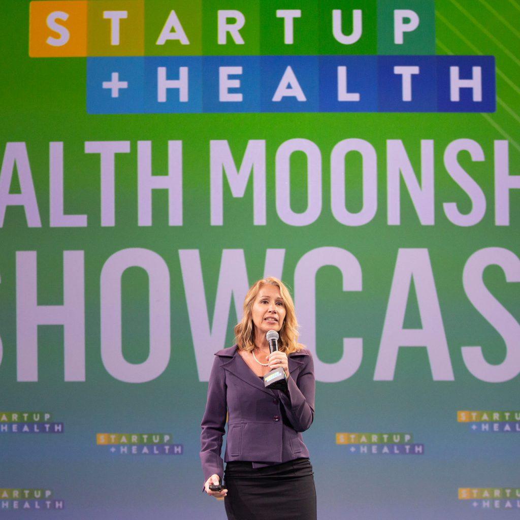 Lynda Brown-Ganzert CEO Curatio Speaking at Health Moonshot Showcase