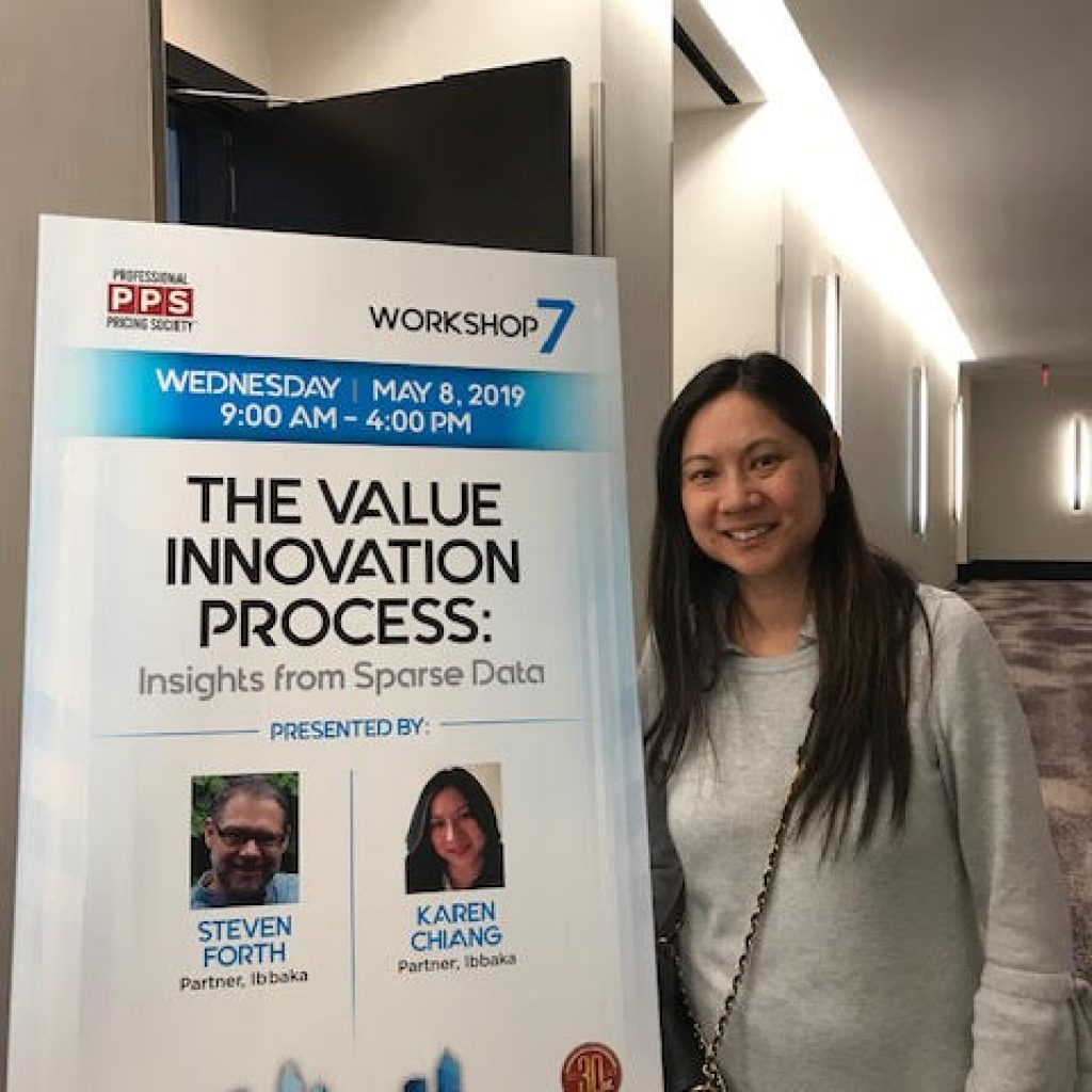 1.Karen Chiang, Managing Partner at Ibbaka - Getting ready to deliver a workshop on the Value Innovation Process