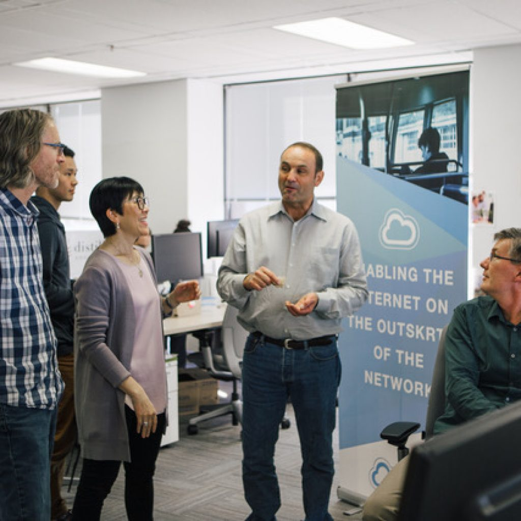 NetSkrt Team Meeting at SFU VentureLabs Office