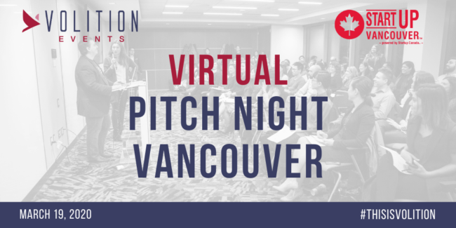 Virtual Pitch Night Vancouver | March 19