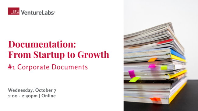 Documentation: From startup to growth - corporate documents