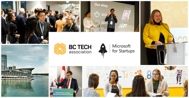 BC Tech and Microsoft for Startups Founders Welcome Event