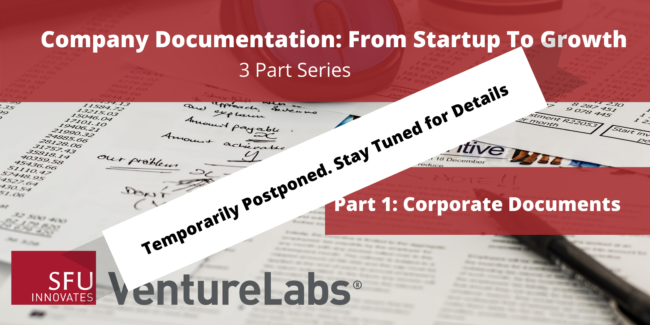 Company Documentation From Startup to Growth (#1 - Corporate Documents)