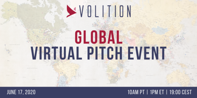 Volition Global Pitch Event | June 17