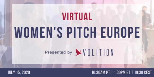 Women's Pitch Europe (virtual) | July 15