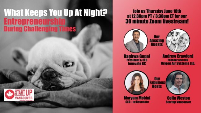 What Keeps You Up At Night? Entrepreneurship During Challenging Times Ep012