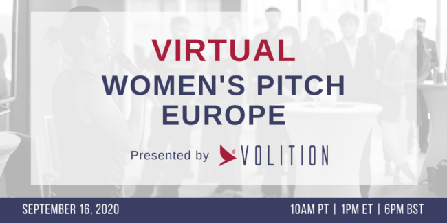 Women's Pitch Europe (virtual) | Sept 16