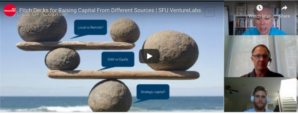 webinar for pitch decks for raising capital from different sources