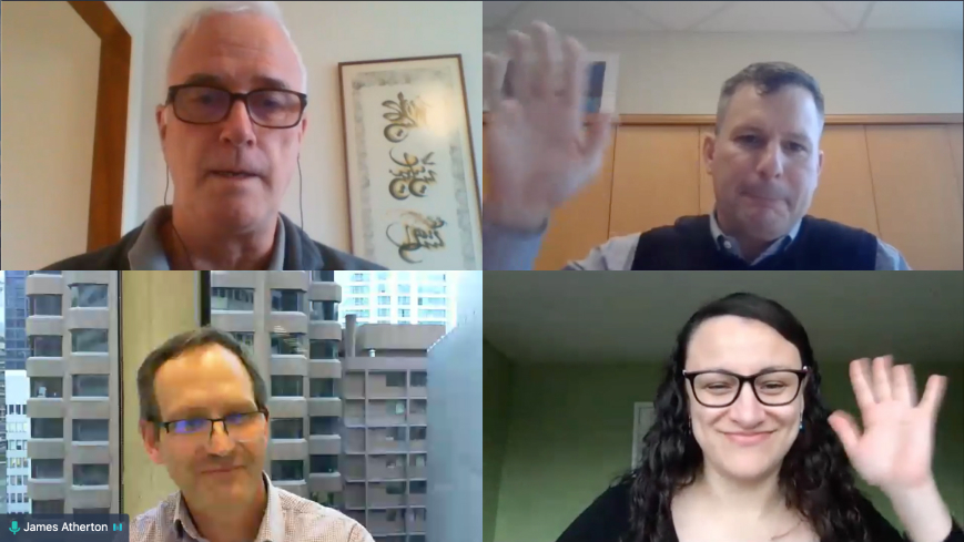 Speakers from Raising Capital Webinar Waving on Camera