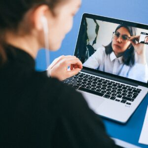 Customer discovery interview on a video call