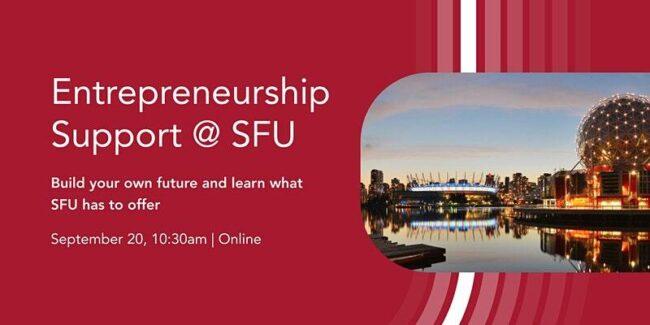 Entrepreneurship Support at SFU Poster